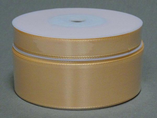 Seidenband Schleifenband 50 m x 15 mm / 40 mm Dekoband ab 0,08 €/m Geschenkband  - Apricot 106, 40 mm x 50 m