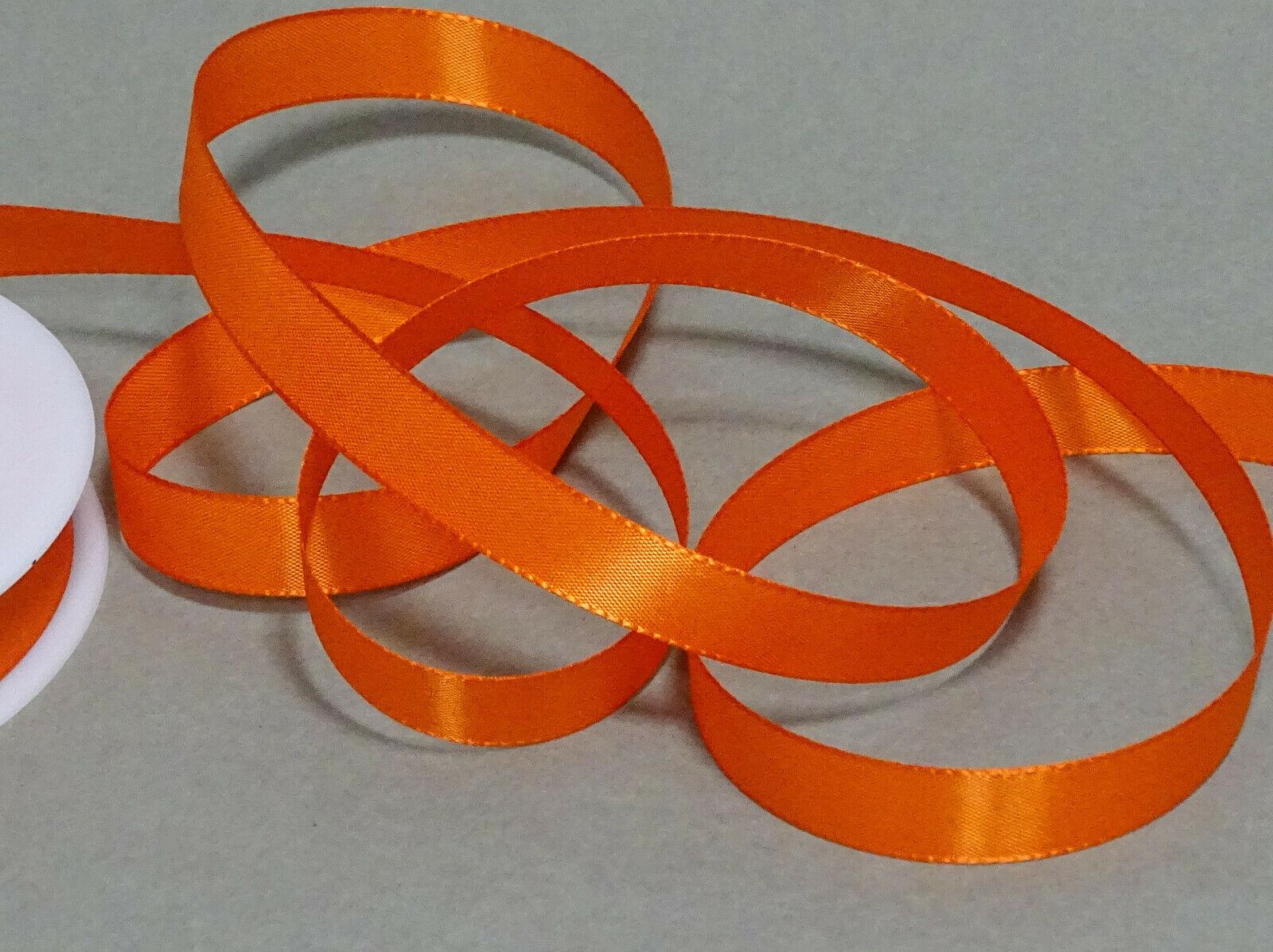 Seidenband Schleifenband 50 m x 15 mm / 40 mm Dekoband ab 0,08 €/m Geschenkband  - Orange 237, 15 mm x 50 m