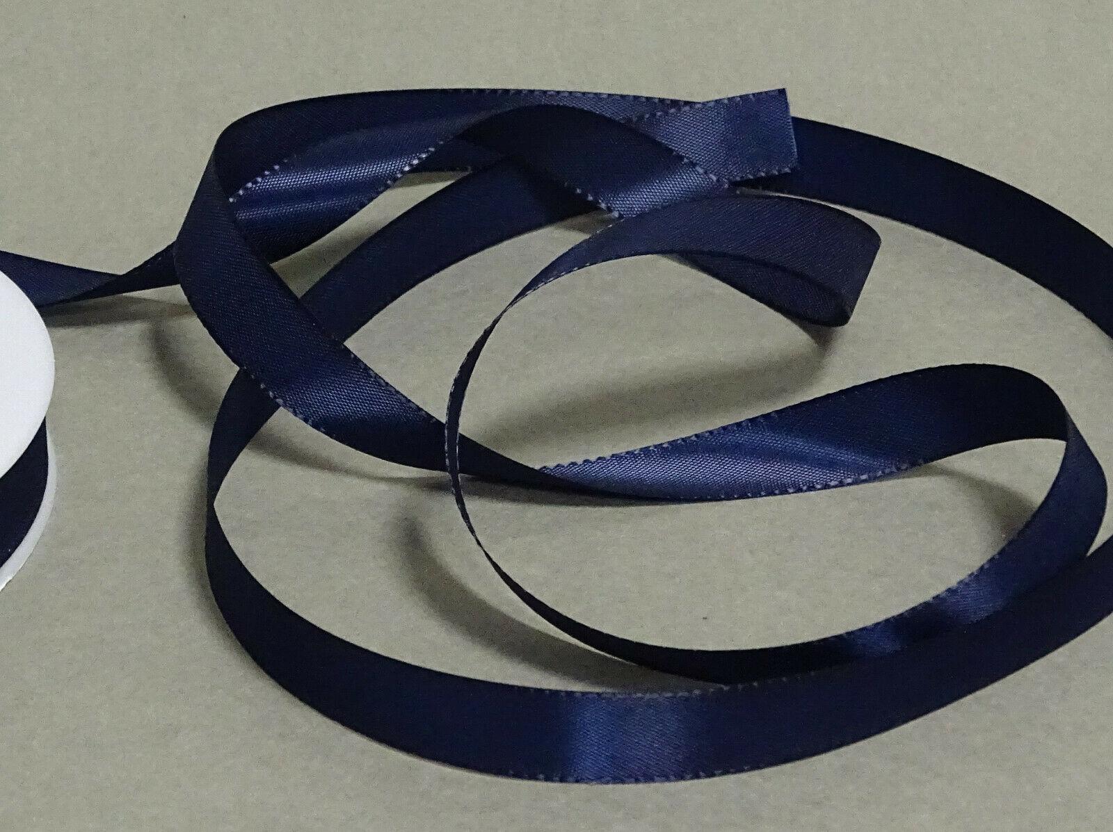 Seidenband Schleifenband 50 m x 15 mm / 40 mm Dekoband ab 0,08 €/m Geschenkband  - Dunkelblau 121, 15 mm x 50 m