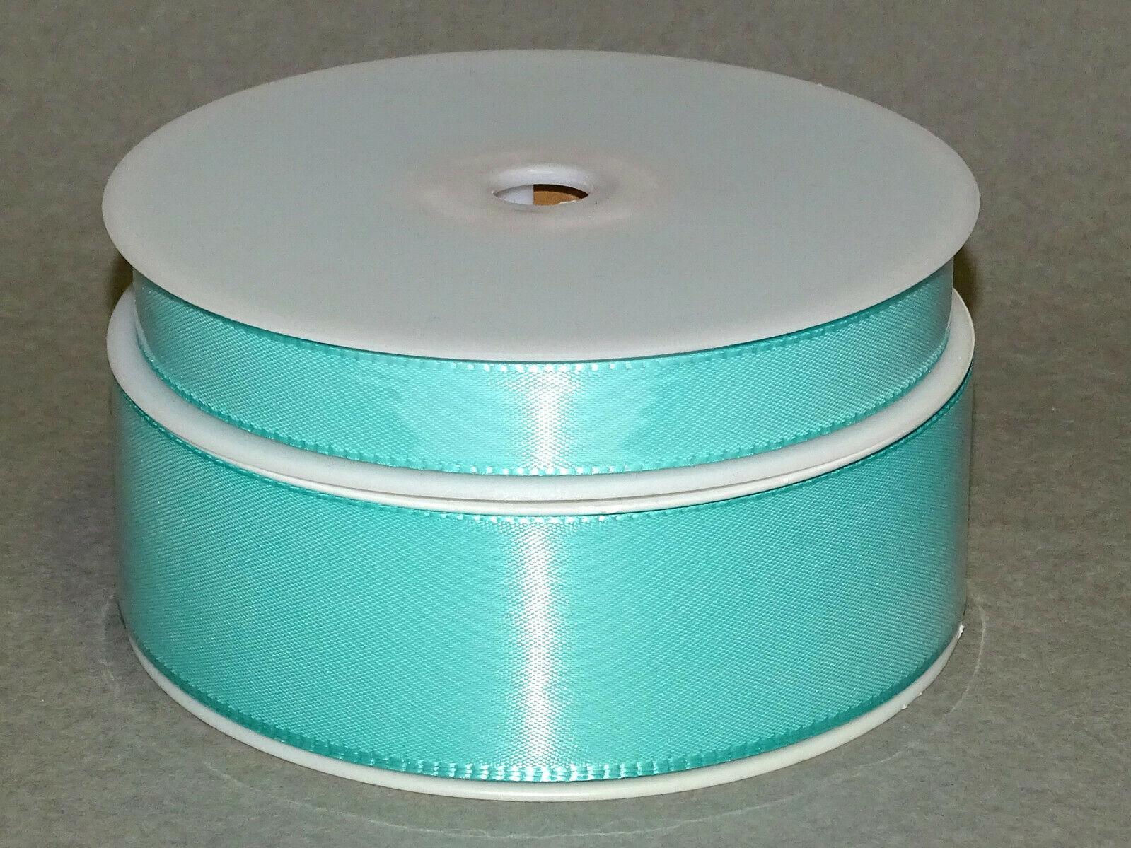 Seidenband Schleifenband 50 m x 15 mm / 40 mm Dekoband ab 0,08 €/m Geschenkband  - Aqua-Mint 146, 15 mm x 50 m