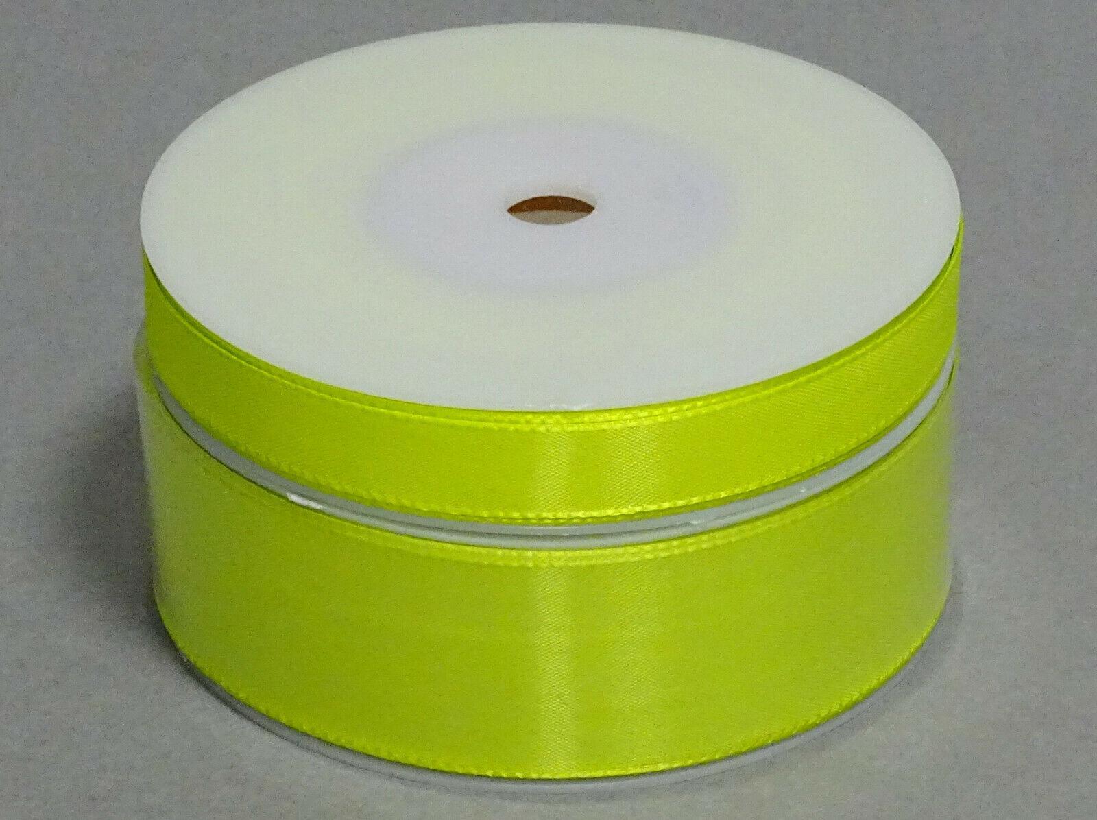Seidenband Schleifenband 50 m x 15 mm / 40 mm Dekoband ab 0,08 €/m Geschenkband  - Lime-Grün 683, 15 mm x 50 m