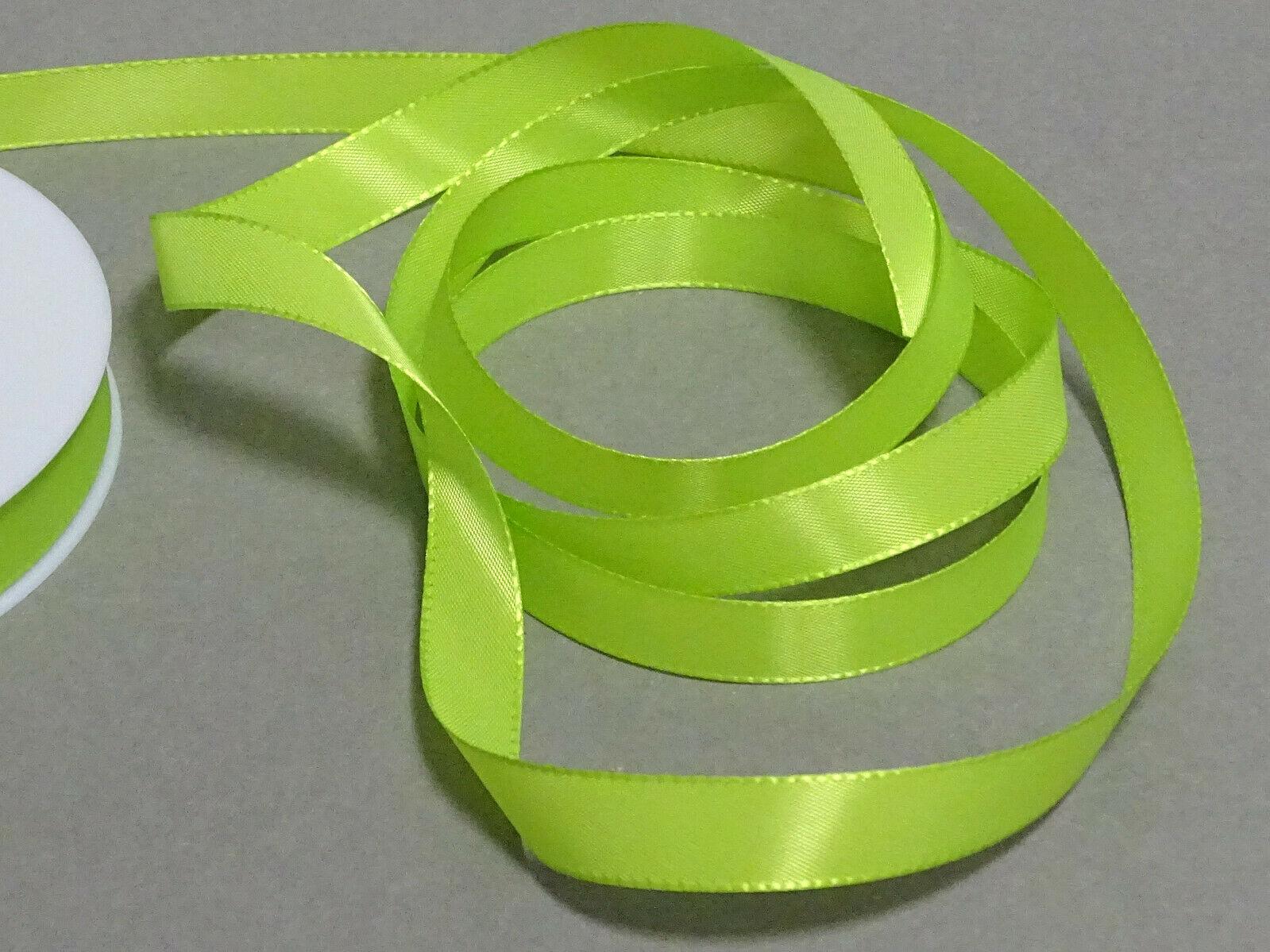 Seidenband Schleifenband 50 m x 15 mm / 40 mm Dekoband ab 0,08 €/m Geschenkband  - Maigrün 211, 15 mm x 50 m
