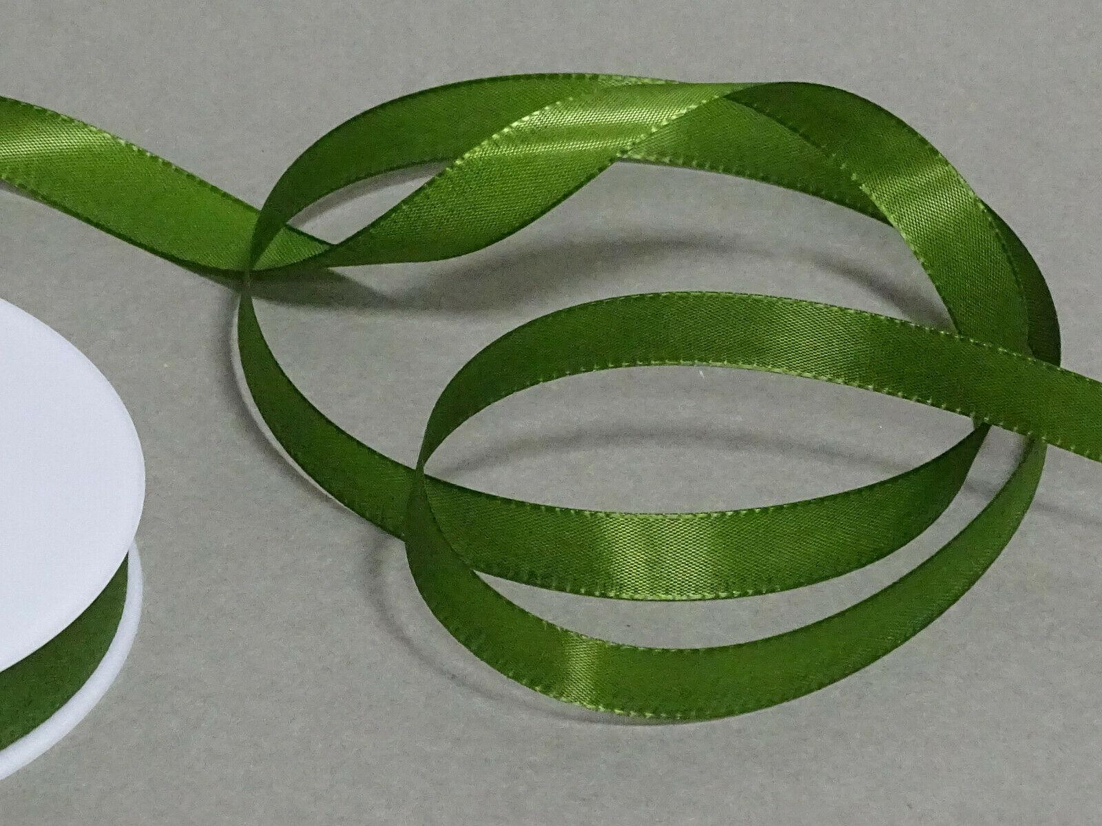 Seidenband Schleifenband 50 m x 15 mm / 40 mm Dekoband ab 0,08 €/m Geschenkband  - Olivgrün 111, 15 mm x 50 m