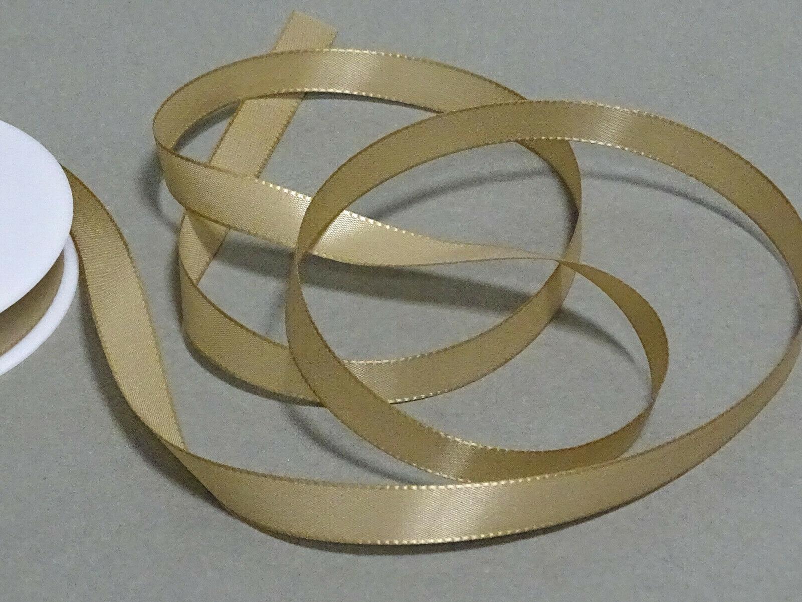Seidenband Schleifenband 50 m x 15 mm / 40 mm Dekoband ab 0,08 €/m Geschenkband  - Cappuccino103, 15 mm x 50 m