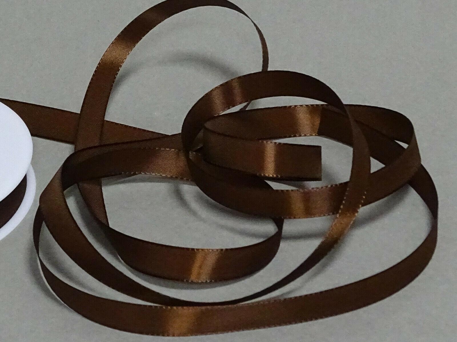 Seidenband Schleifenband 50 m x 15 mm / 40 mm Dekoband ab 0,08 €/m Geschenkband  - Braun 132, 15 mm x 50 m