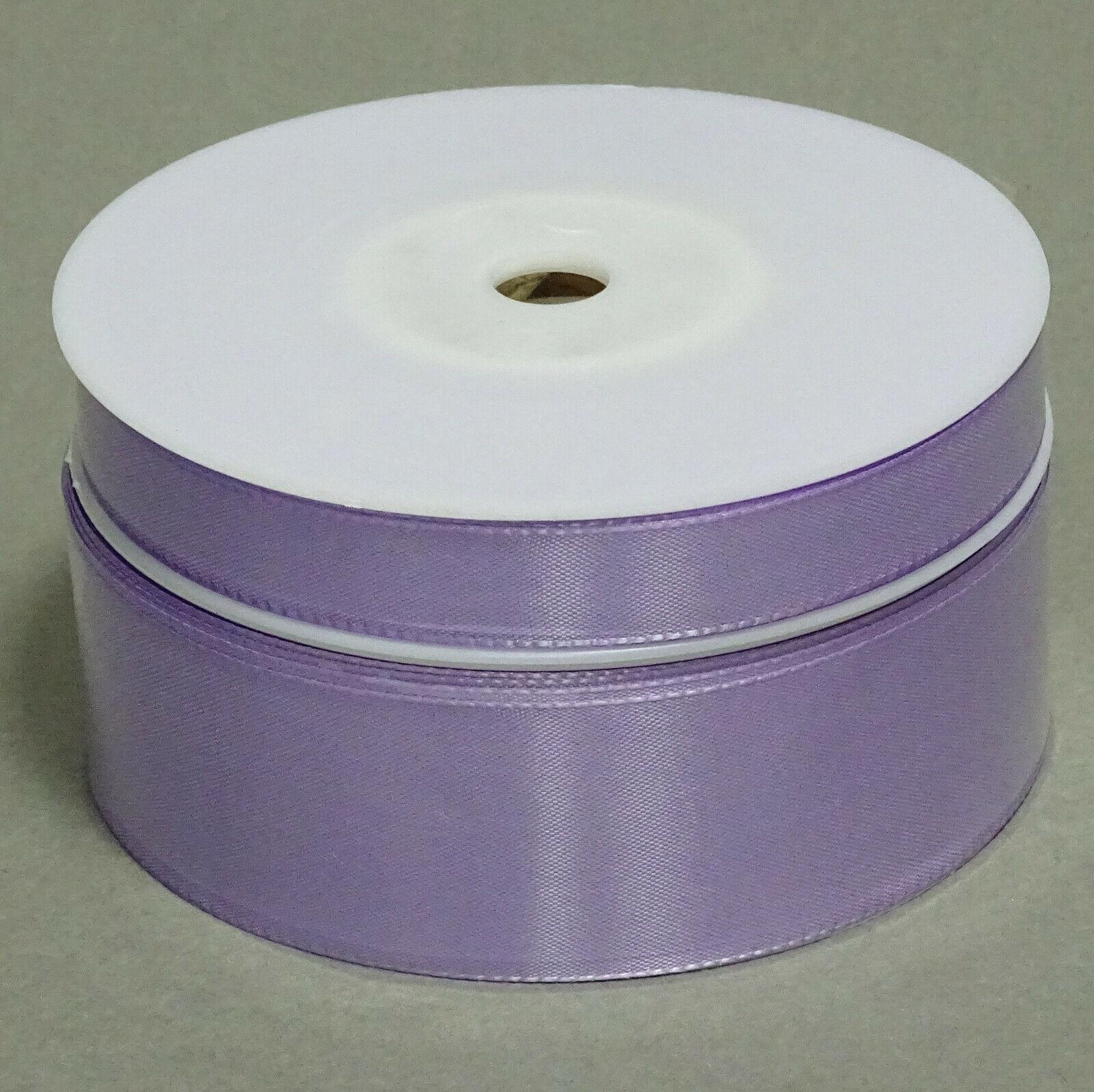 Seidenband Schleifenband 50 m x 15 mm / 40 mm Dekoband ab 0,08 €/m Geschenkband  - Flieder 114, 15 mm x 50 m
