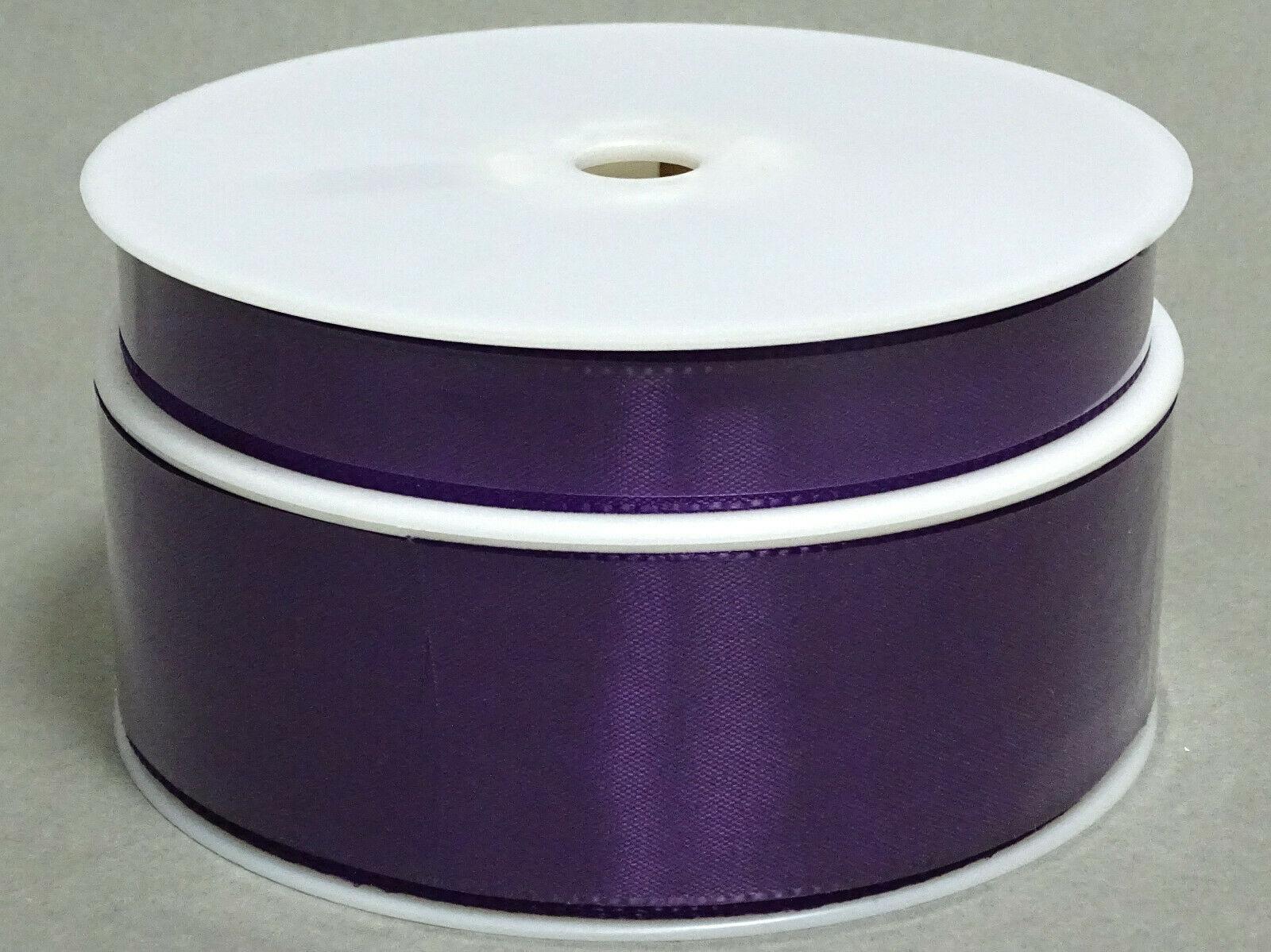 Seidenband Schleifenband 50 m x 15 mm / 40 mm Dekoband ab 0,08 €/m Geschenkband  - Violett 133, 15 mm x 50 m