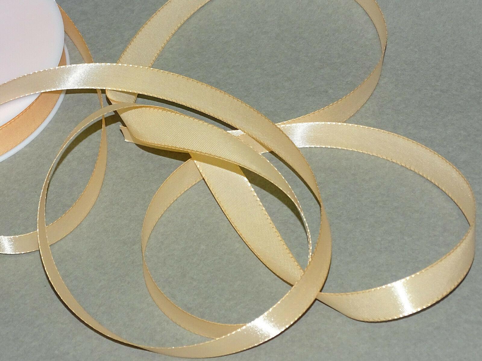 Seidenband Schleifenband 50 m x 15 / 25 / 40mm Dekoband ab 0,08€/m Geschenkband  - Apricot 106, 40 mm x 50 m