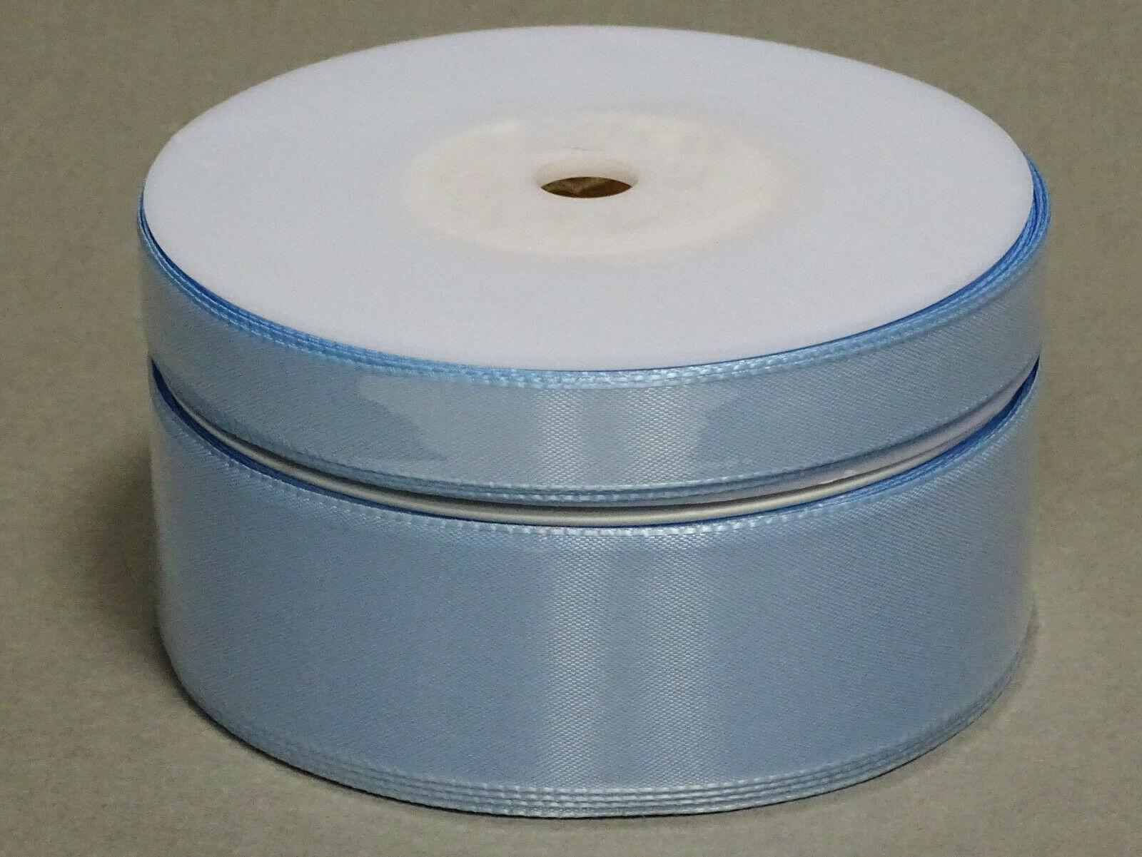 Seidenband Schleifenband 50 m x 15 / 25 / 40mm Dekoband ab 0,08€/m Geschenkband  - Hellblau 754, 15 mm x 50 m