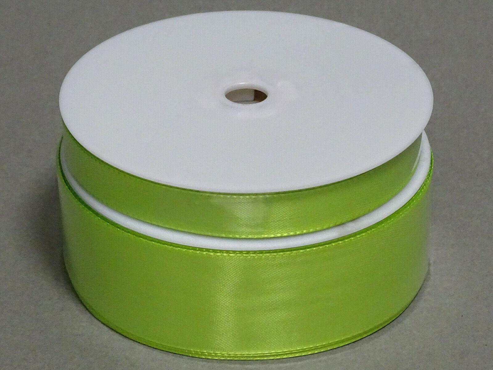 Seidenband Schleifenband 50 m x 15 / 25 / 40mm Dekoband ab 0,08€/m Geschenkband  - Maigrün 211, 15 mm x 50 m