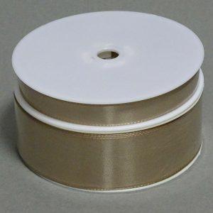 Seidenband Schleifenband 50 m x 15 / 25 / 40mm Dekoband ab 0,08€/m Geschenkband  - Cappuccino103, 15 mm x 50 m