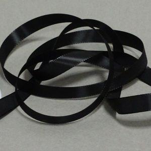 Seidenband Schleifenband 50 m x 15 / 25 / 40mm Dekoband ab 0,08€/m Geschenkband  - Schwarz 113, 15 mm x 50 m