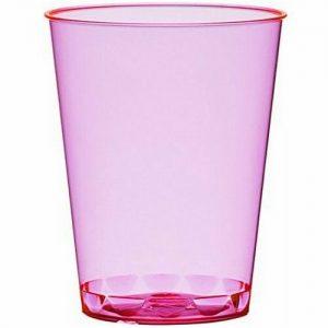 100 - 200 Stück Einweg Schnapsgläser 49 ml (Eichstrich: 2 cl/4 cl) Neon Farben - 200 Stück=10 Pack. x 20 Stück, Pink