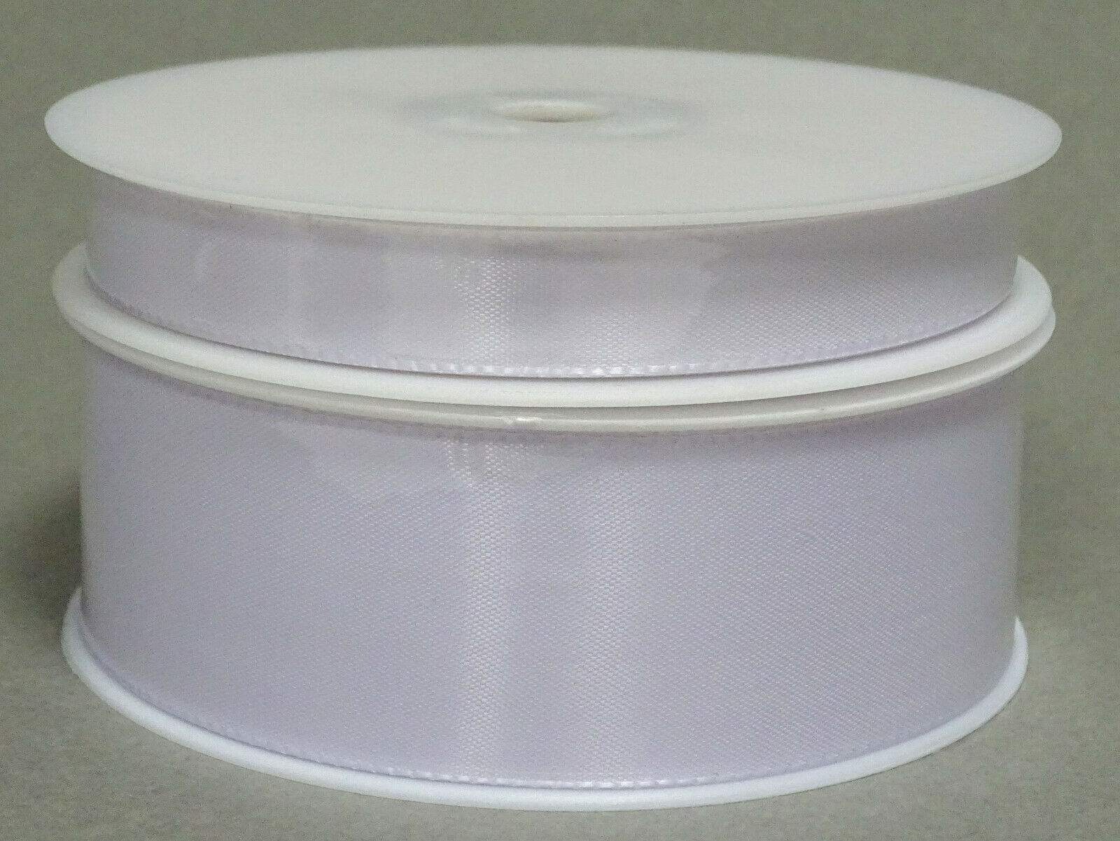 Seidenband Schleifenband 50 m x 15 / 25 / 40mm Dekoband ab 0,08€/m Geschenkband  - Weiß 101, 25 mm x 50 m