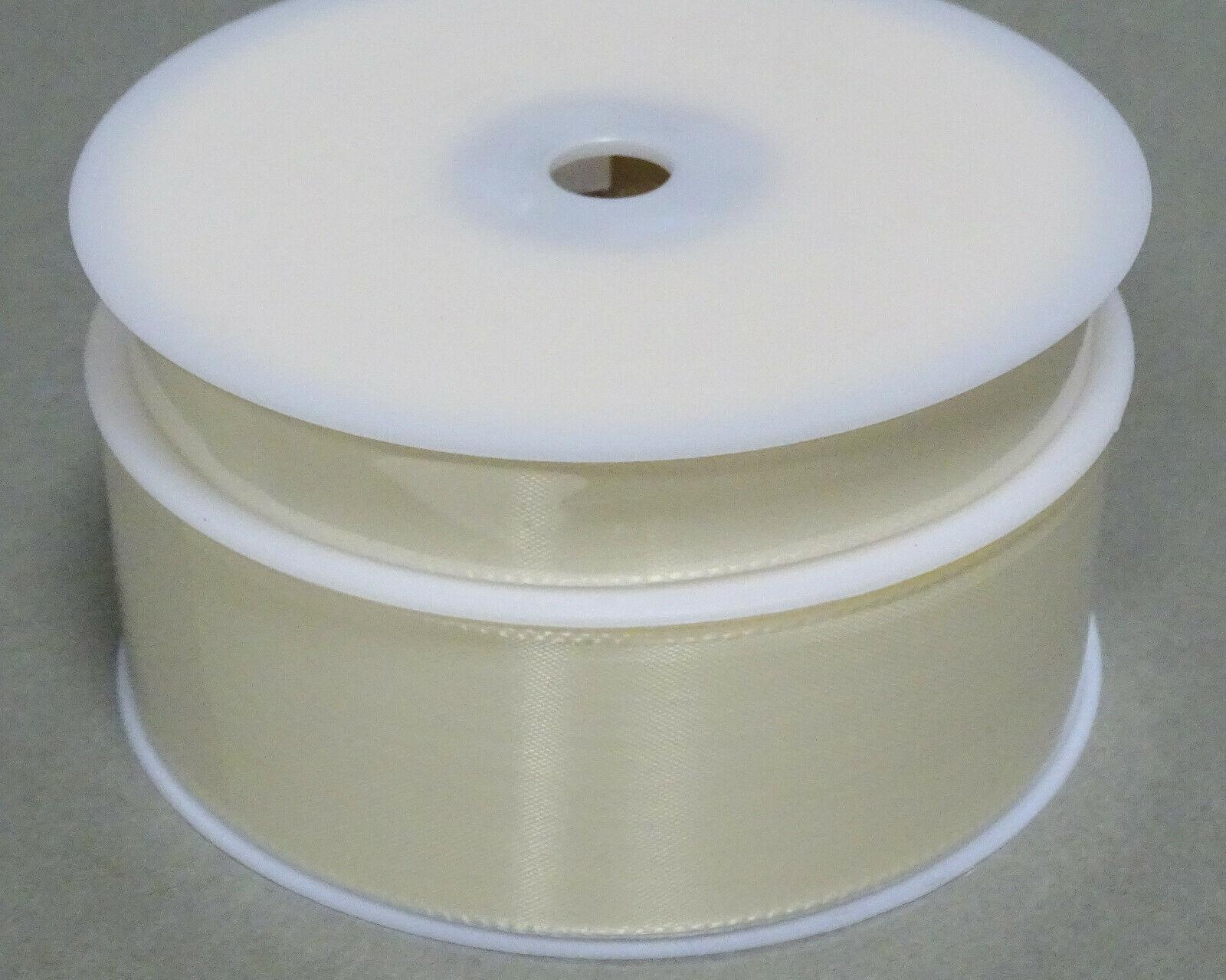 Seidenband Schleifenband 50 m x 15 / 25 / 40mm Dekoband ab 0,08€/m Geschenkband  - Elfenbein 202, 25 mm x 50 m