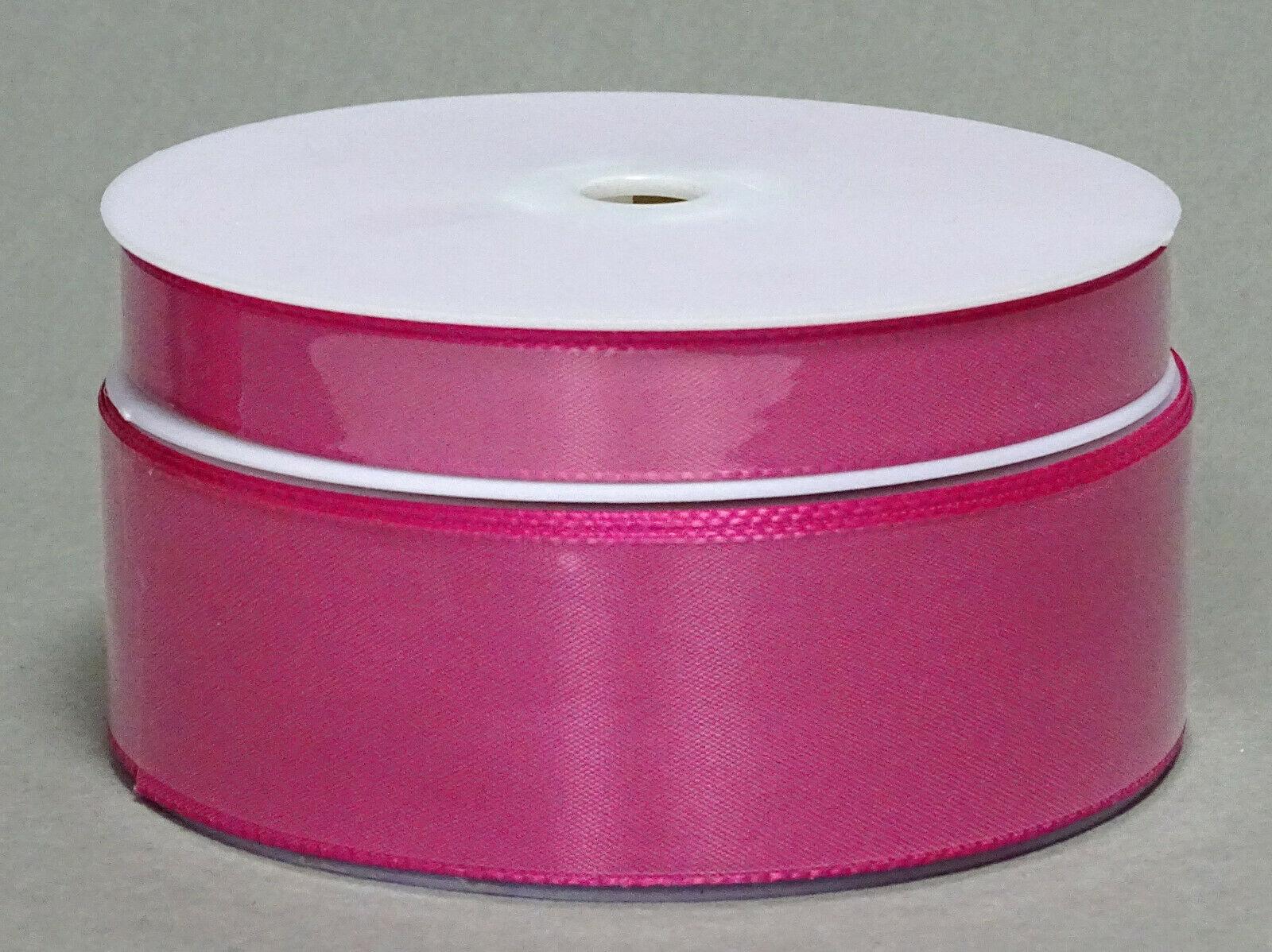 Seidenband Schleifenband 50 m x 15 / 25 / 40mm Dekoband ab 0,08€/m Geschenkband  - Pink 138, 25 mm x 50 m