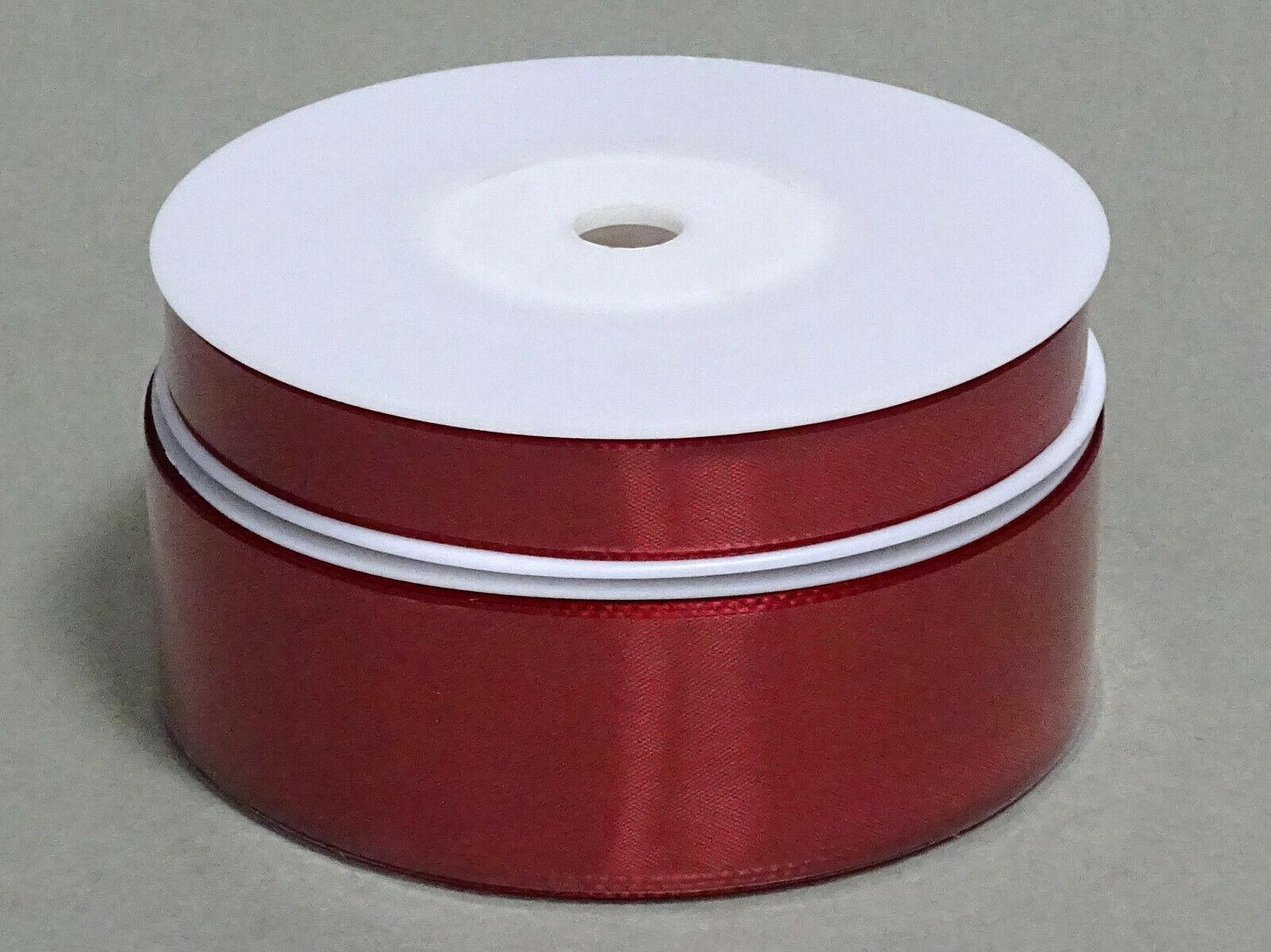 Seidenband Schleifenband 50 m x 15 / 25 / 40mm Dekoband ab 0,08€/m Geschenkband  - Bordeaux 124, 25 mm x 50 m