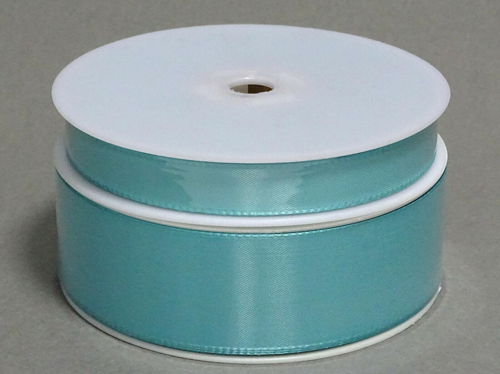 Seidenband Schleifenband 50 m x 15 / 25 / 40mm Dekoband ab 0,08€/m Geschenkband  - Aqua-Mint 146, 25 mm x 50 m