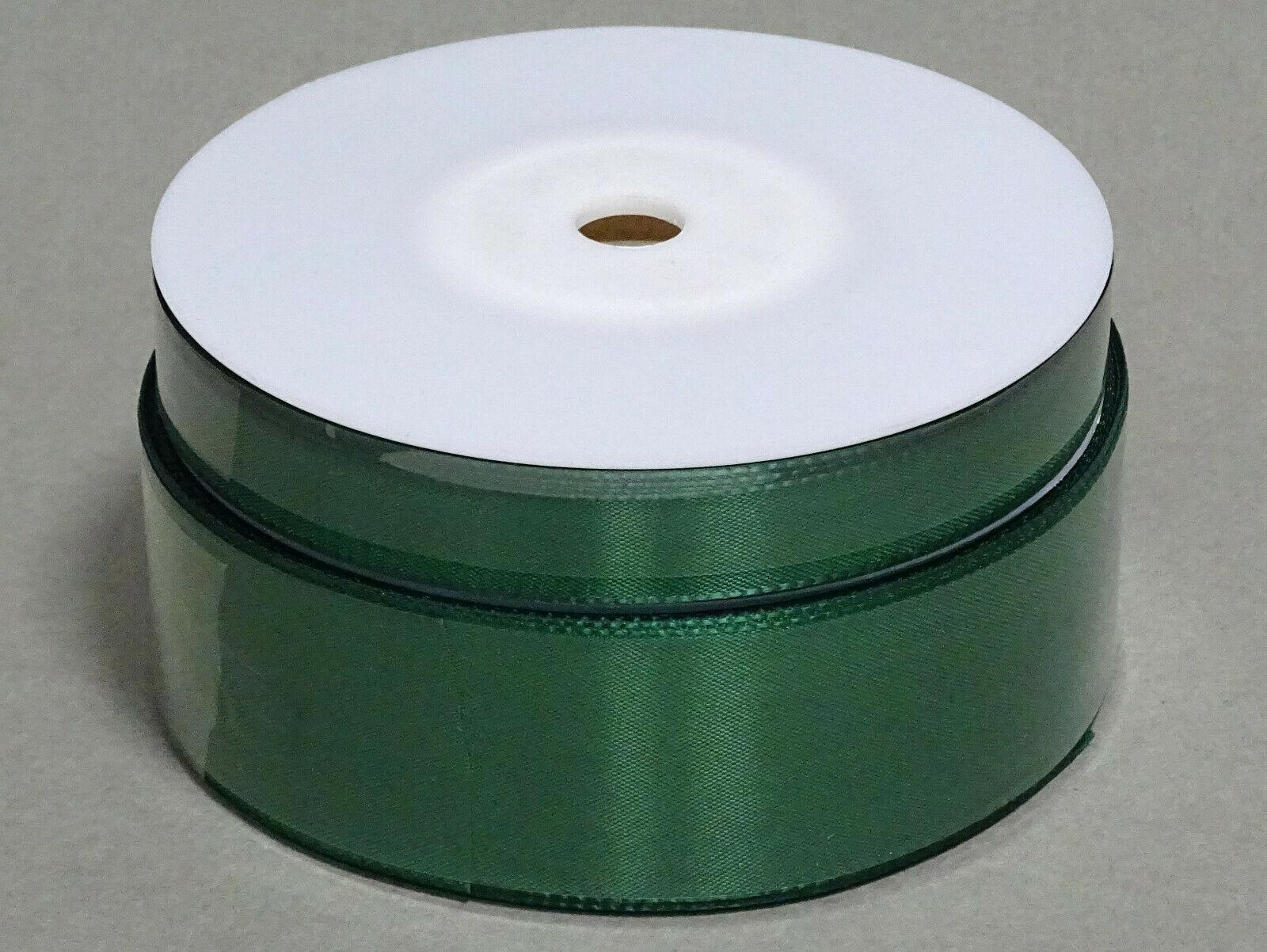 Seidenband Schleifenband 50 m x 15 / 25 / 40mm Dekoband ab 0,08€/m Geschenkband  - Grün 858, 25 mm x 50 m