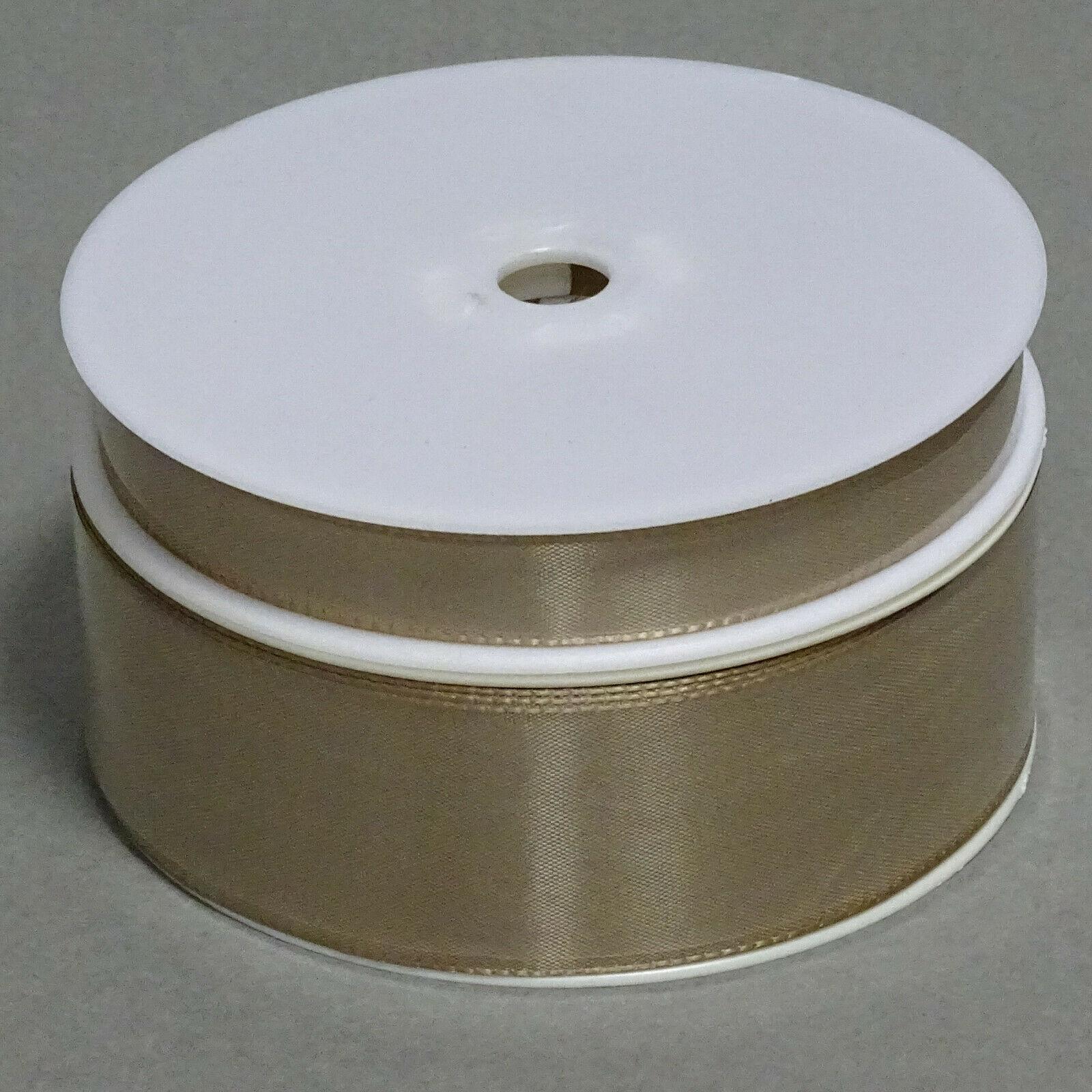 Seidenband Schleifenband 50 m x 15 / 25 / 40mm Dekoband ab 0,08€/m Geschenkband  - Cappuccino103, 25 mm x 50 m
