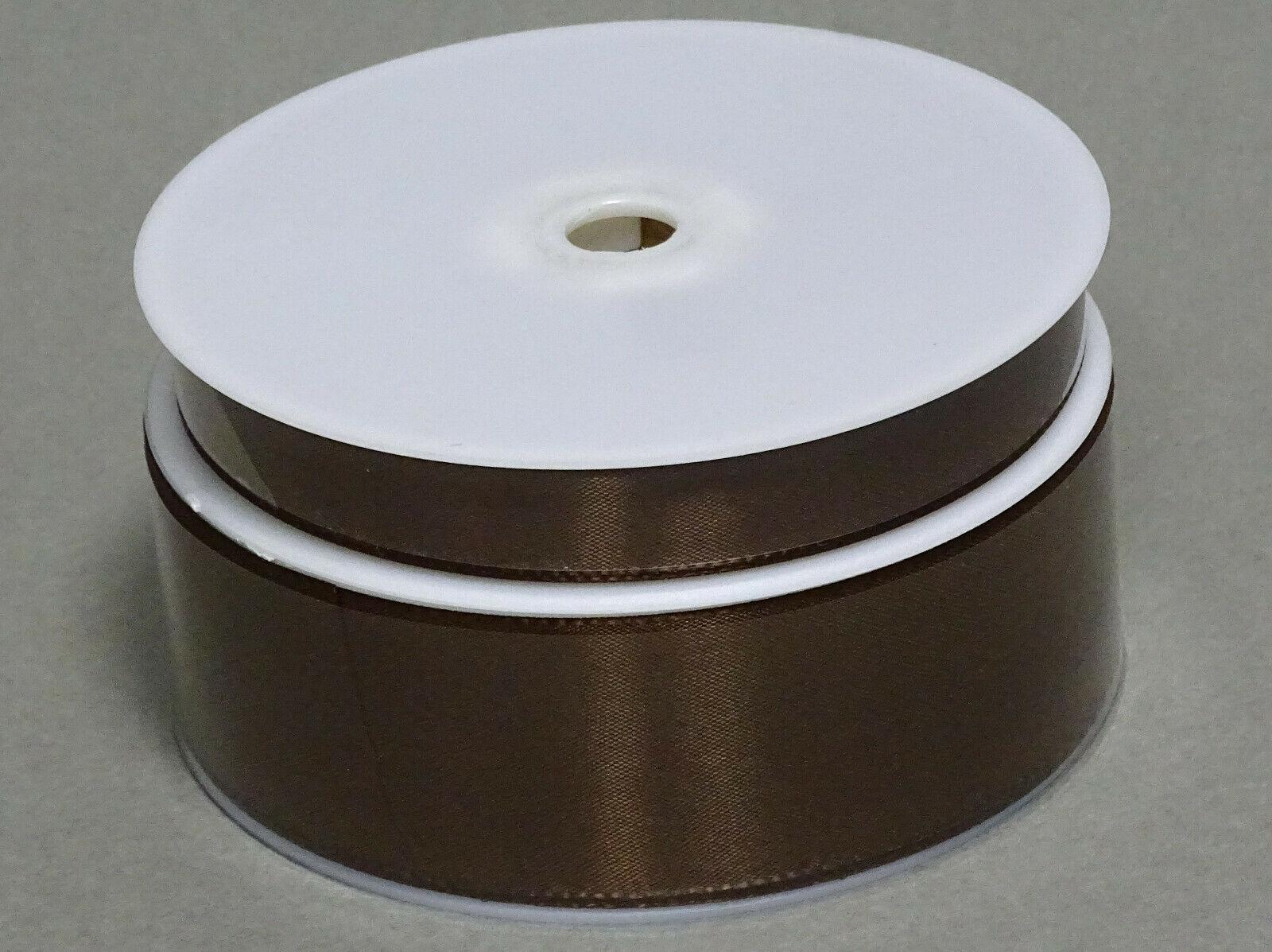 Seidenband Schleifenband 50 m x 15 / 25 / 40mm Dekoband ab 0,08€/m Geschenkband  - Braun 132, 25 mm x 50 m