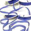 Karoband Schleifenband 50 m x 6mm / 10mm Vichy Dekoband ab 0,18€/m Geschenkband - Blau – Weiß 0120, 6 mm x 50 m