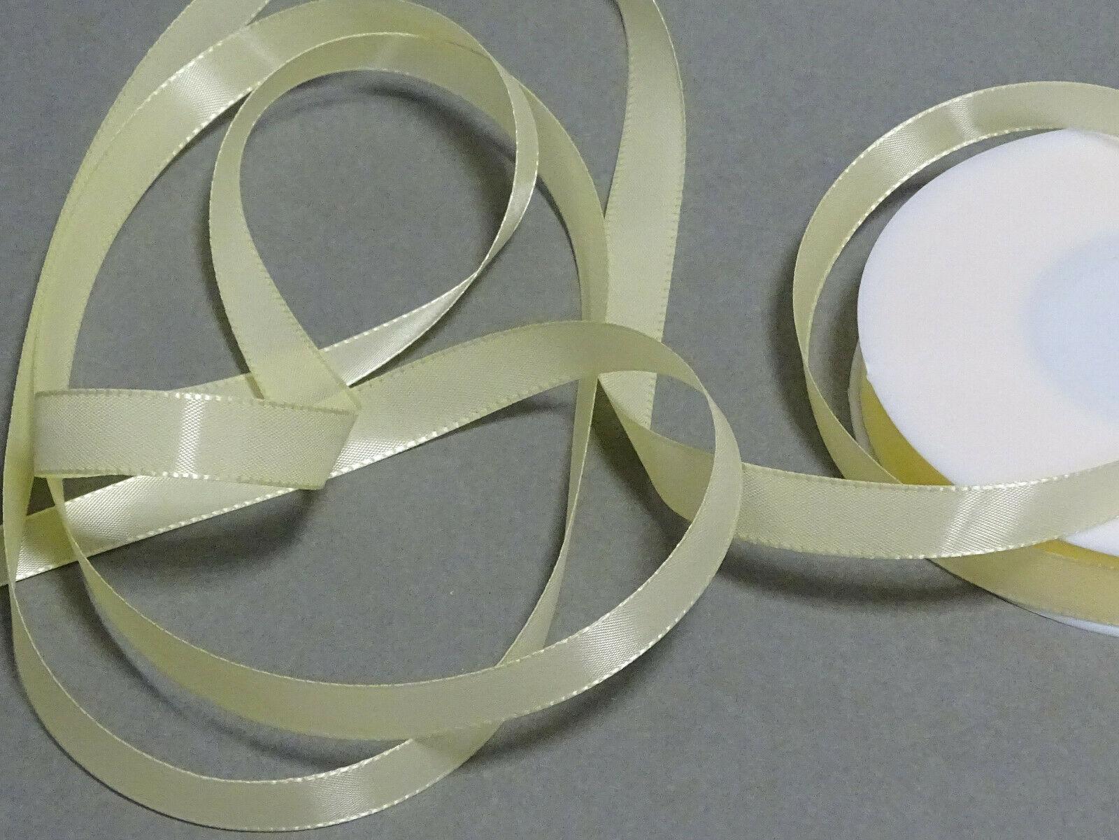 Seidenband Schleifenband 50 m x 15 / 25 / 40mm Dekoband ab 0,08€/m Geschenkband  - Creme 105, 25 mm x 50 m