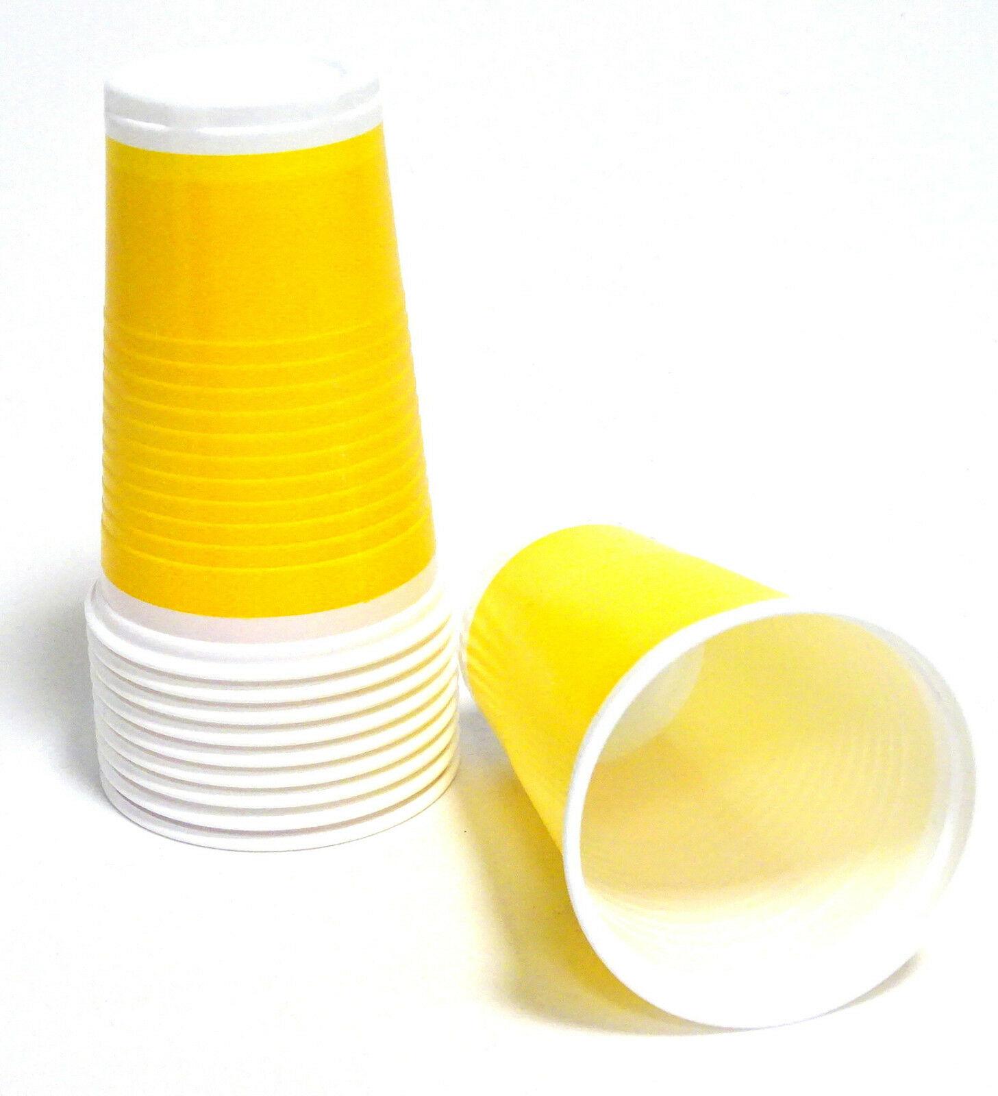 200-3.000 Plastikbecher Einwegbecher 0,2 l Trinkbecher Rot Gelb Blau ab 0,03€/St - 1.000 Stück, Gelb