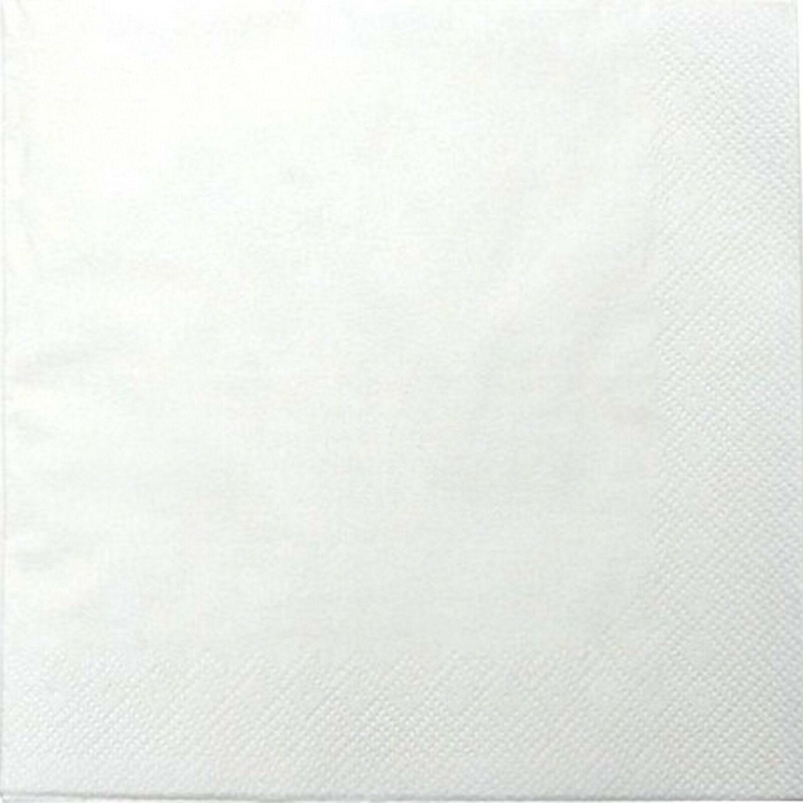 200 - 1.000 Stück Servietten 3-lagig 33x33 cm  Papierservietten Tissue-Qualität - Weiß, 200 Stück