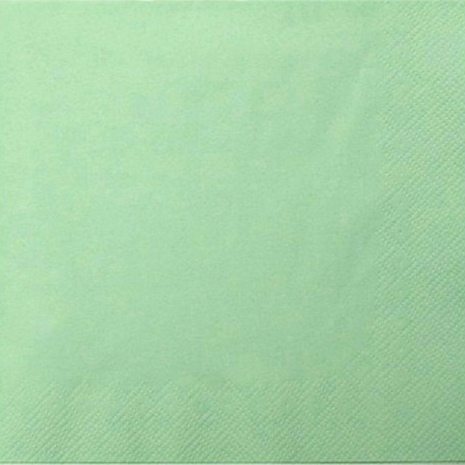 200 - 1.000 Stück Servietten 3-lagig 33x33 cm  Papierservietten Tissue-Qualität - Lindgrün (Pistachio), 200 Stück