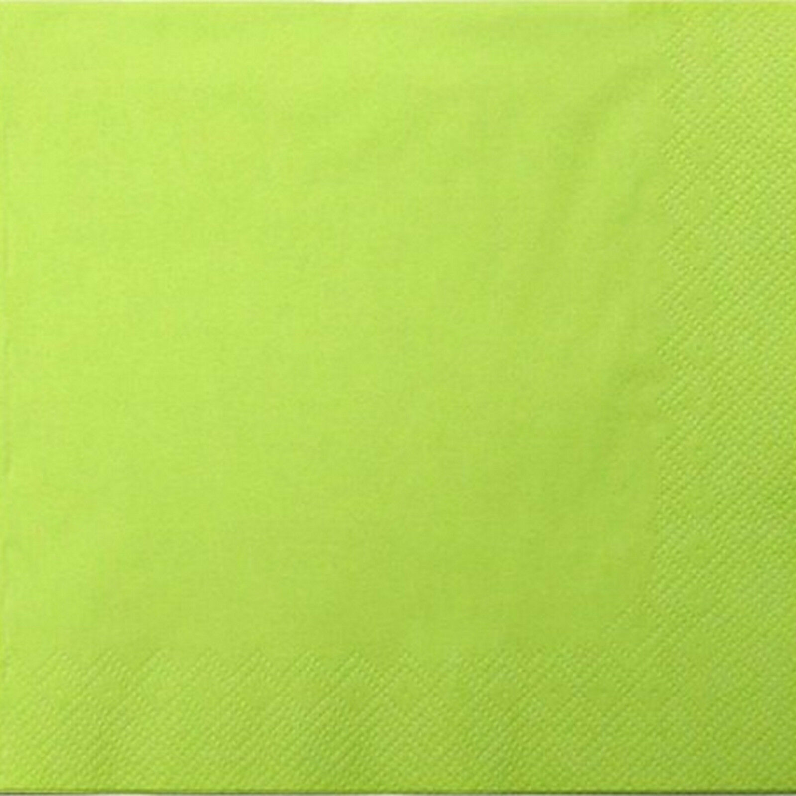 200 - 1.000 Stück Servietten 3-lagig 33x33 cm  Papierservietten Tissue-Qualität - Lime (Kiwi), 200 Stück