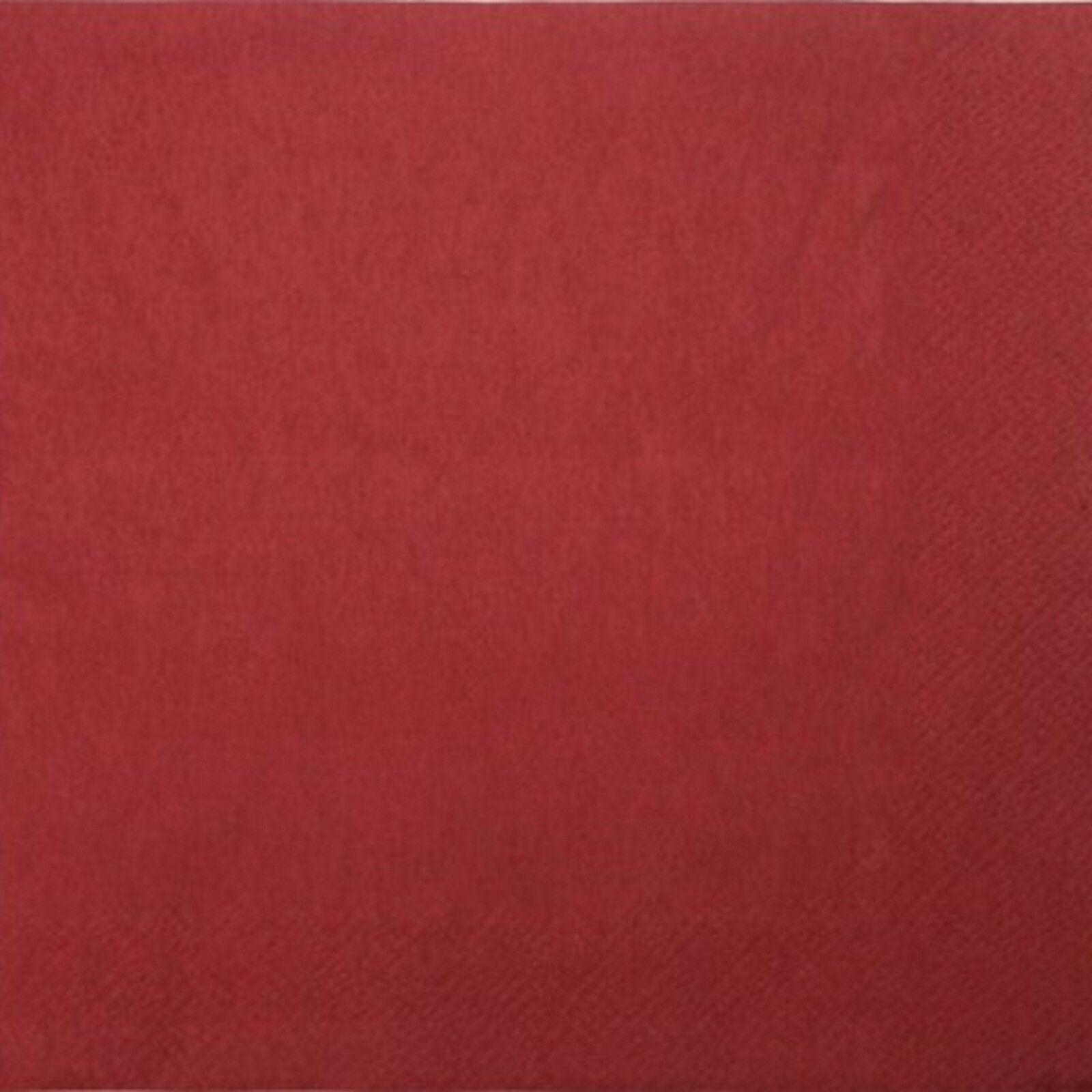 200 - 1.000 Stück Servietten 3-lagig 33x33 cm  Papierservietten Tissue-Qualität - Bordeaux, 200 Stück