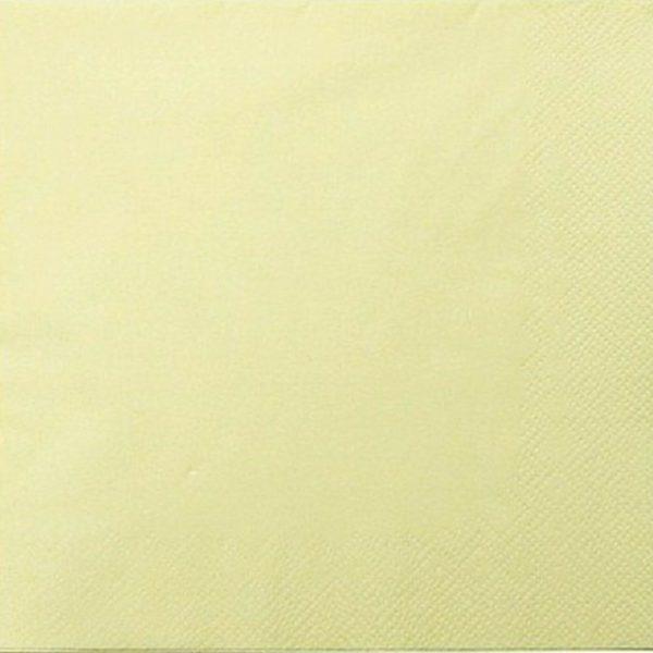 200 - 1.000 Stück Servietten 3-lagig 33x33 cm  Papierservietten Tissue-Qualität - Champagne (Vanille), 200 Stück