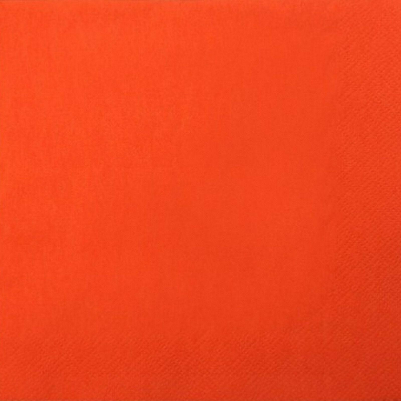 200 - 1.000 Stück Servietten 3-lagig 33x33 cm  Papierservietten Tissue-Qualität - Orange, 200 Stück