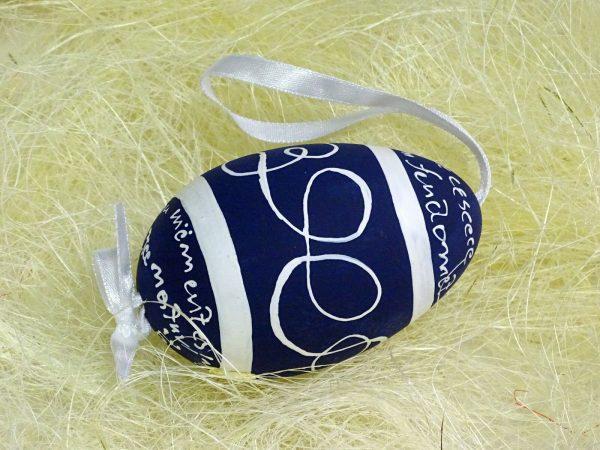 Osterei echte Gänse Eierschale handbemalt ca. 9 cm Ostern Ei Anhänger Dekoeier - CADENCE 549