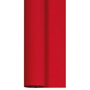 Tischdeckenrolle 25 m x 125 cm stoffähnlich Premium Einweg Vlies Tischdecke Rot - 25 m x 1,25 m = 1 Rolle