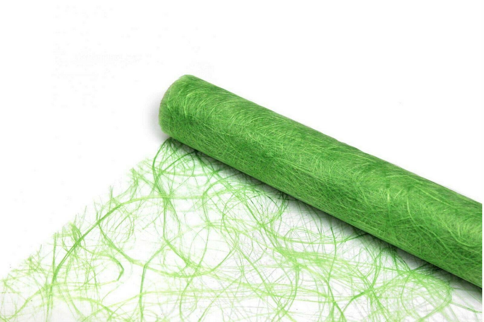 Sizoweb Tischband 25m x 30cm (0,99 - 1,14 €/m) Tischläufer Dekoration Tisch-Deko - Hellgrün (Lime Green) 6090