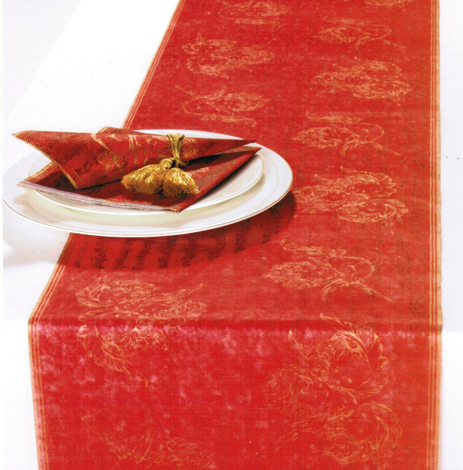 6 Pack Tischläufer Tischband je 33 x 600cm Weihnachten Engel Tischdeko - Rot