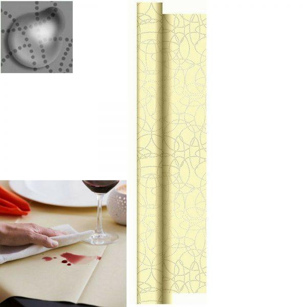 Dunisilk Tischdecke Rolle 1,2 x 25 m abwischbar Tischdeckenrolle Creme  - Creme (Champagne)