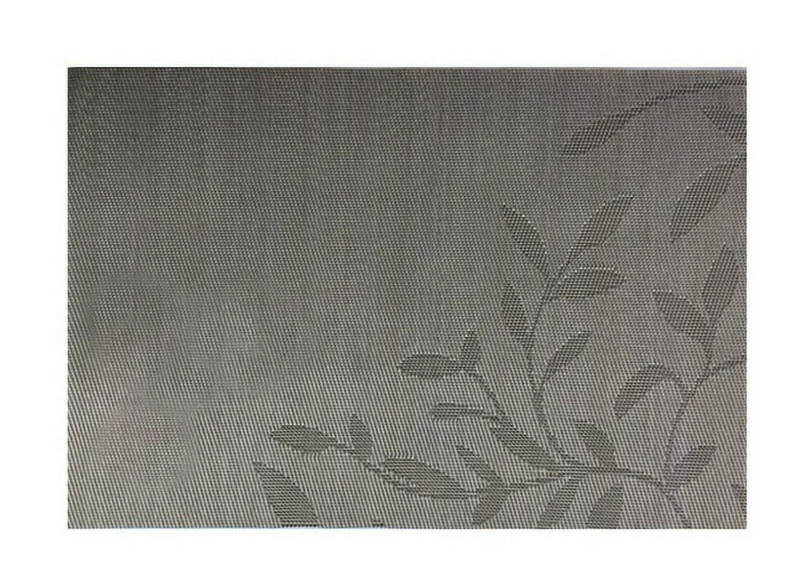 Tischset Platzdeckchen Platzset 45x30 cm abwaschbar Kunststoff PVC versch. Motiv - Blätter Design (Taupe metallic)