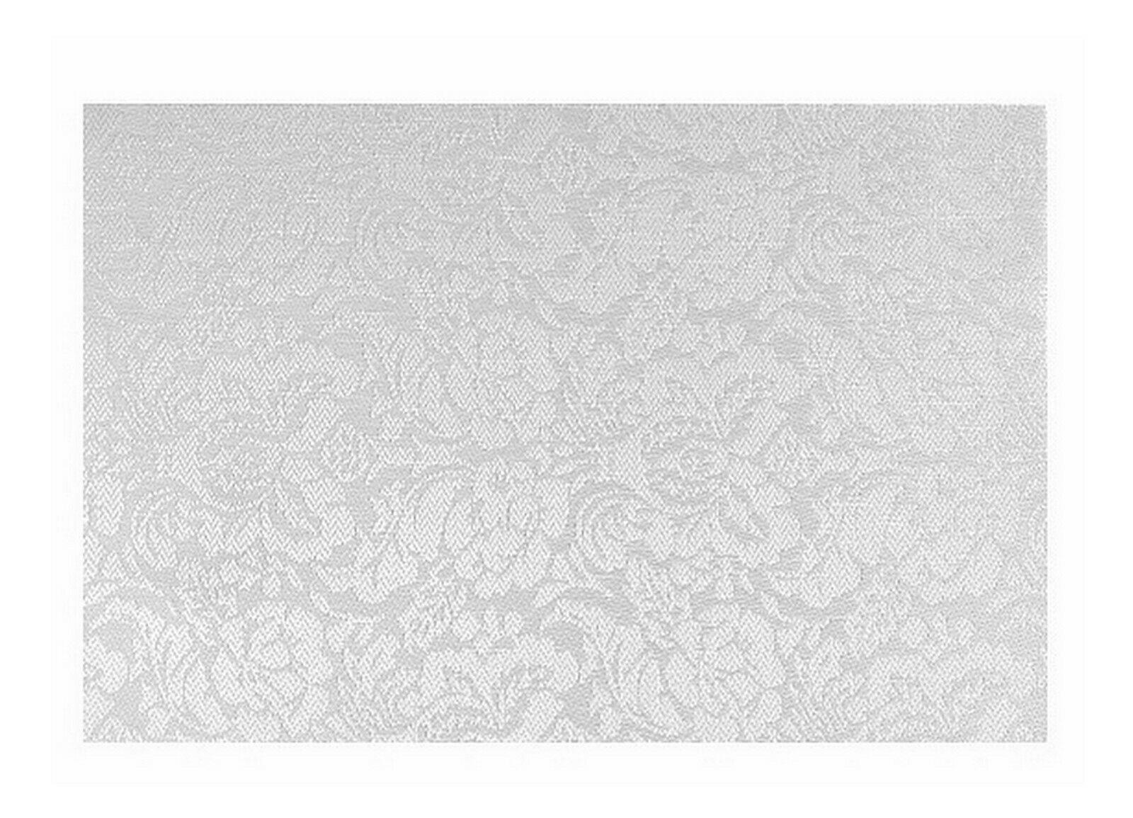 Tischset Platzdeckchen Platzset 45x30 cm abwaschbar Kunststoff PVC versch. Motiv - Blumen Design (Creme-Silber)