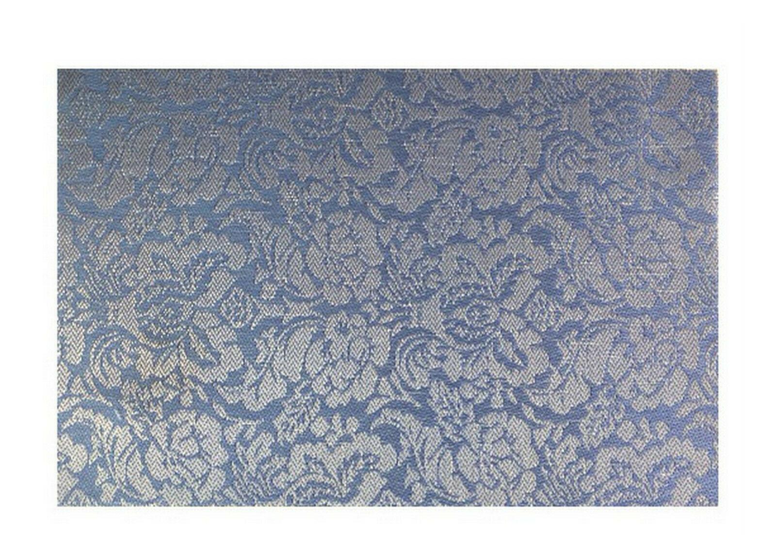 Tischset Platzdeckchen Platzset 45x30 cm abwaschbar Kunststoff PVC versch. Motiv - Blumen Design (Blau-Silber)