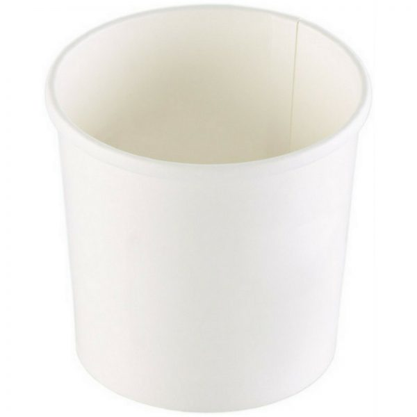 100 - 600 Stück Suppenbecher 355 ml / 485 ml Pappe ohne Deckel Soup to go Weiß - 200 Stück, 350 ml, Ø 9,1 cm x 8,5 cm