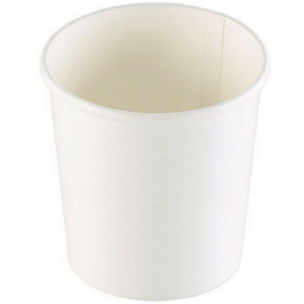 100 - 600 Stück Suppenbecher 355 ml / 485 ml Pappe ohne Deckel Soup to go Weiß - 200 Stück, 485 ml, Ø 9,7 cm x 9,9 cm