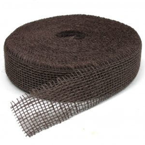40m Juteband 5cm breit Dekoband Rolle - Braun (hart)
