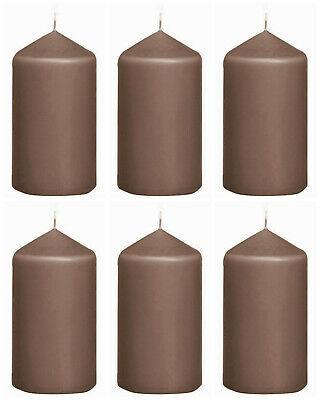 10 Stück Bolsius Stumpenkerzen 118 x 58 mm Stumpe Kerze Candle Taupe