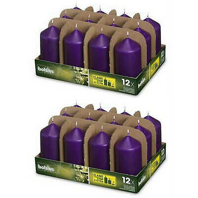24 Stück Bolsius Professional Gastro Stumpenkerzen 118x58 mm Purple 2x 12er Tray