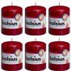 10 Bolsius Stumpenkerzen 80x60mm - Bordeaux 44