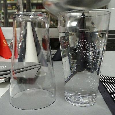 48x Mehrwegbecher 0,25L Eichstrich Glasklar Hart-Kunststoff Trinkbecher 0,58€/St