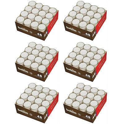 288 Stück Bolsius Teelichter Acryl Cup ca. 8 Stunden Teelicht (6 x 48er)